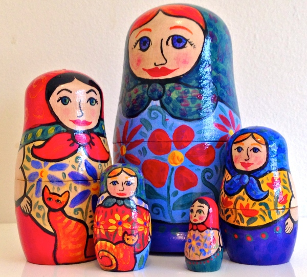 Babushka dolls painted by Julia Marshall