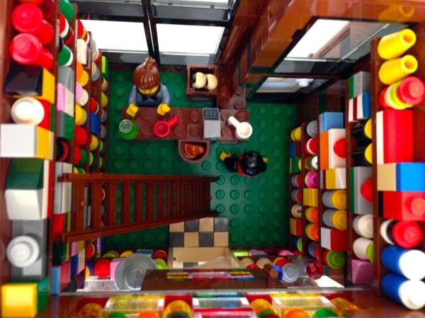 Inside Julia's Lego general store.