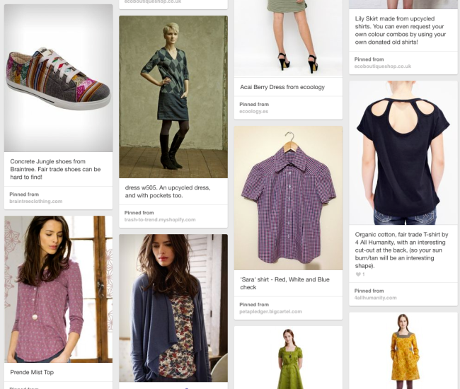 Julia's ethical fashion Pinterest board